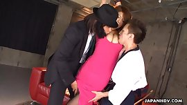 Asian secret agent babe getting threesome fucked
