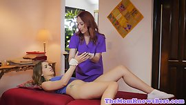Redhead les milf fingering teens wet pussy