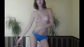 shy ukrainian cam-slut half naked