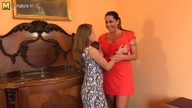 POSH Busty mother seducing teen daughter
