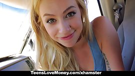 TeensLoveMoney - Blonde Hippie Strips & Fucks For Cash