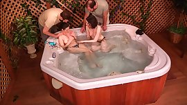 Brother Sister Foursome in Jacuzzi