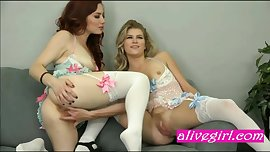 WildOnCam lesbians playing in hot lingerie and stockings - alivegirl