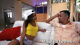 Ebony Teenager Babe Rammed Rough By Hard Prick