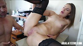 Young Teen AssFucked at Work by her Boss