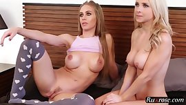 Alix Lynx and Nicole Aniston fucked in threesome