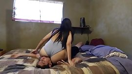 Lisa smothering him