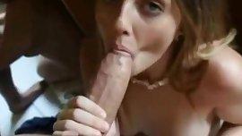 Young Girl Sucks a Fat Cock