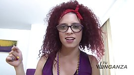 Tu Venganza - Curly redheaded latina sucking a hard rod