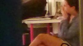Ma jeune voisine en camera cachee  neighbor hidden cam