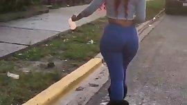 Black Teen Walking