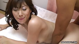 Asian bitch getting her soaking wet pussy boned