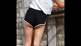 nice butt in shorts  teen