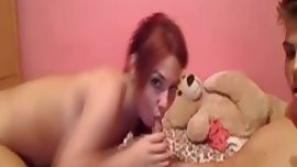 Teen boobs in webcam