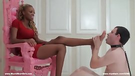 Ebony princess feet worship