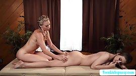 Lesbian Lena reached her orgasm TeenLicksPussy.com