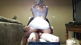 Amateur Slut Rides Dick And Gets Tight Ass Fingered